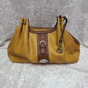Born concept hobo bag mustard yellow color